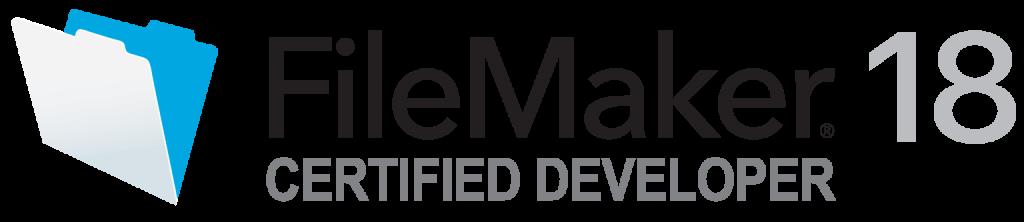 Filemaker®18 Certified Developper (認定技術者) ロゴ