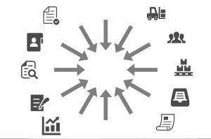 業務を統合するイメージの画像