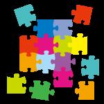 ジグソーパズルのアイコン(難しい課題を紐解くイメージとして)