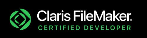 FiLeMaker デベロッパーロゴ 背景黒