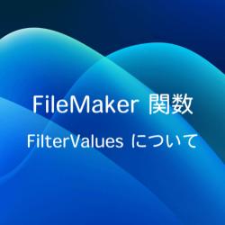 関数 FilterValues について