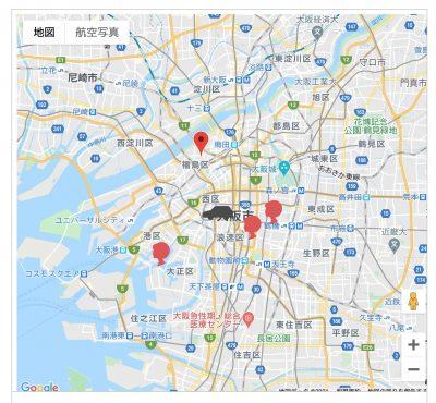 ドライバーとスタッフの位置を示すGoogleMapAPI