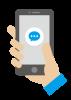 スマートフォンでメッセージを送る図解